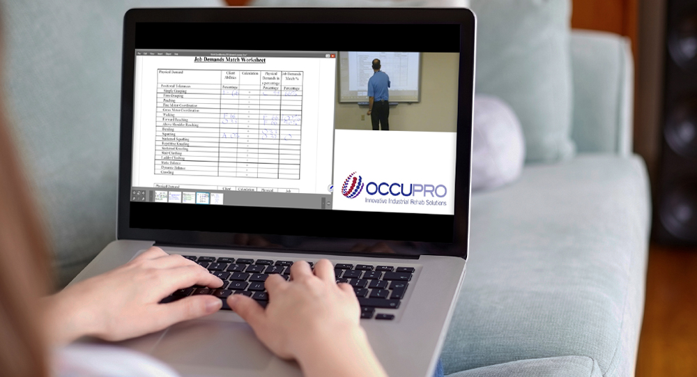 Attendee taking a Live Webcast course on their home laptop