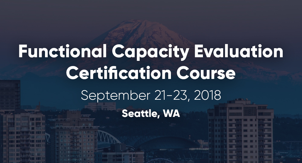 September 21-23 | FCE Certification Course | Seattle, WA